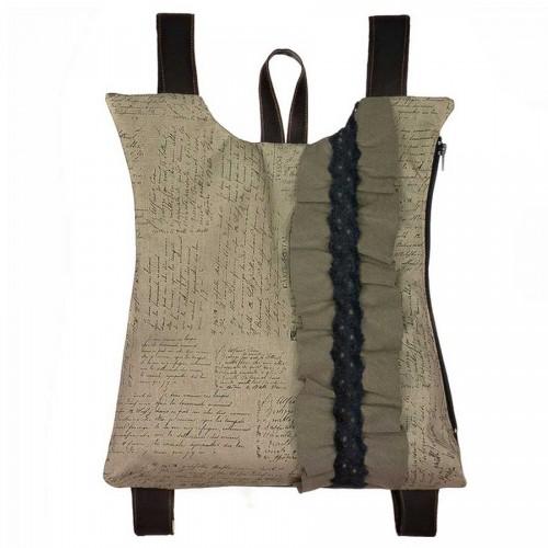 Dafne Χειροποίητος Σάκος Πλάτης MS Linen Cotton