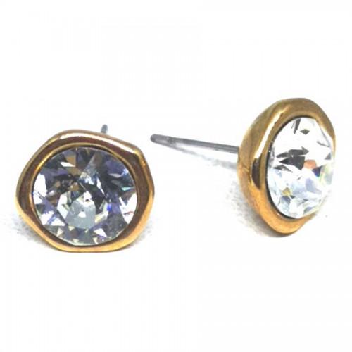 Σκουλαρίκια με πέτρες Swarovski σε χρώμα διαμαντιού