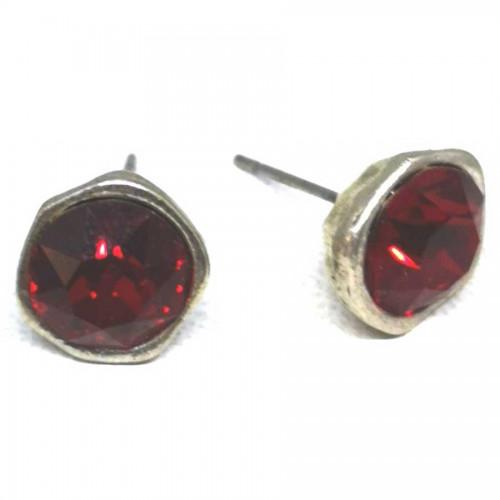 Σκουλαρίκια με πέτρες Swarovski σε χρώμα κόκκινο ρουμπινί