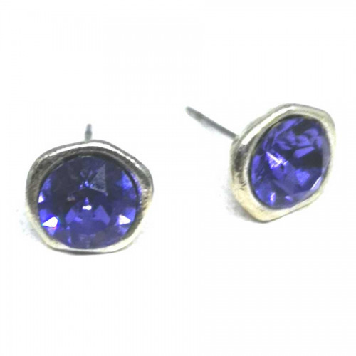 Σκουλαρίκια με πέτρες Swarovski σε χρώμα βιολετί