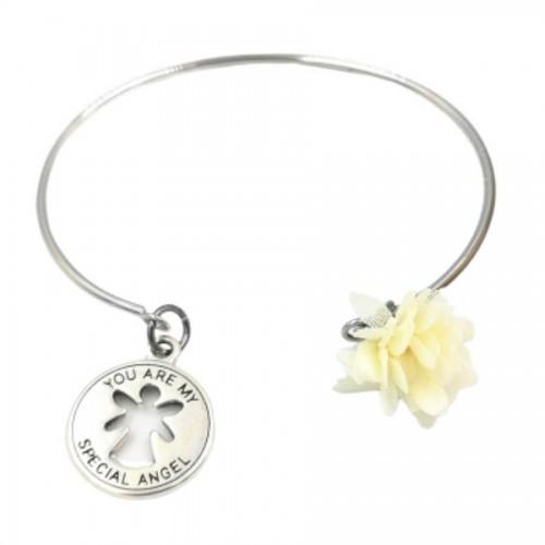 Γούρι Βραχιόλι μονό My Angel με λουλούδι