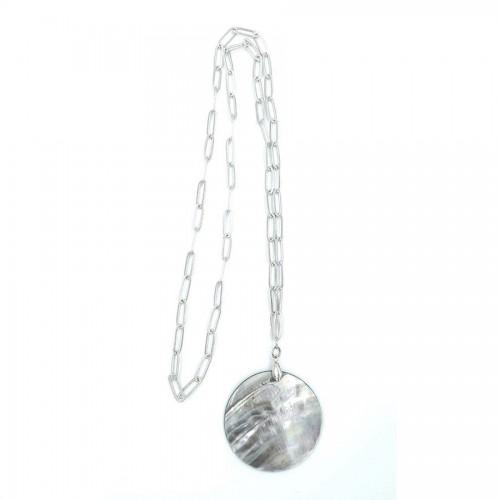 Χειροποίητο κρεμαστό με στοιχείο από φίλντισι silver