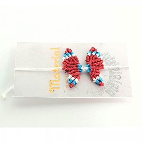 Μάρτης πεταλούδα κόκκινη λευκή τιρκουάζ
