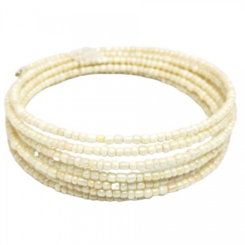 Χειροποίητο Βραχιόλι memory-wire με Ζαχαρί Κρυσταλλάκι