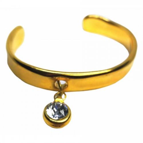 Βραχιόλι Χειροπέδα Χρυσό με Swarovski Διαμάντι